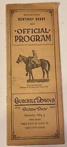 1941 Church Hill Downs Kentucky Derby Horse  Race Program