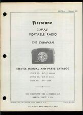 Rare Orig Factory Firestone Caravan 3-Way Portable Radio 4-C-19 Service Manual