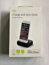 Kit Lightning Charge Synchronisation Noir Socle Dock IPHONE 6 7 8 Se 11 + X XS