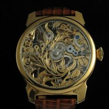 NUMA Vintage Mens Wrist Watch Skeleton Luxury Watches Gold Men's Watches Swiss