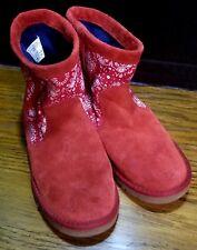 Ugg Kids Kaelou Bandana Boot Size 4 # 1010495K Red