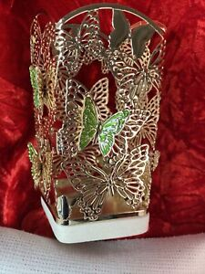 Bath & Body Works 3D Butterfly Green & Gold W/Resin Base Soap Holder Spring NEW!