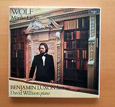 Wolf Morike-Lieder Benjamin Luxon David Willison 3xLP Argo 3BBA 1008-10 - EX/EX