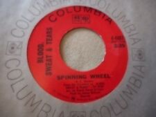 """BLOOD SWEAT & TEARS """"SPINNING WHEEL"""" / """"MORE AND MORE"""" 7"""" 45 ORIGINAL"""