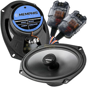 """Memphis Audio 6x9"""" Coaxial Speakers In-Line Crossover 120 Watts Max MClass MCX69"""