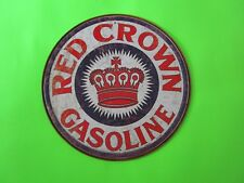 tin metal home garage repair shop man cave decor service station fuel red crown