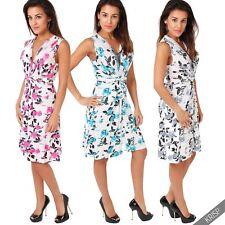 Plus Size Viscose Short/Mini Sleeveless Dresses for Women