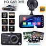 4'' Touch Dual Lens HD 1080P Car Video Dash Cam DVR Recorder Camera Night Vision