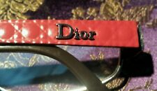 Christian Dior Eyeglass Frames CD 3758 Red Silver excellent cond. with hard case