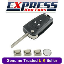 Vauxhall Opel Astra J Insignia A Cascade 3 Button Remote Key Fob Case Repair Kit