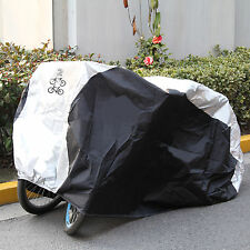 Bicycle Cover 2 Bikes Cycle Rain Covers Waterproof Heavy Duty Dust Sun Resists