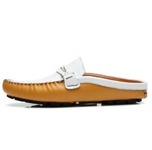 Casual Mens Shoes Closed Toe Half Slipper Loafers Breathable Slip On Flats Comfy