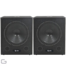 "2x QTX QT18SA 18"" Active Powered Subwoofer 2000W Disco Band DJ Sub Bass Bin"