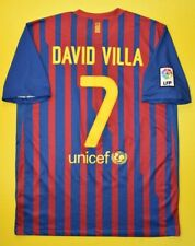 5/5 BARCELONA #7 DAVID VILA 2011~2012 ORIGINAL FOOTBALL SHIRT JERSEY HOME SOCCER