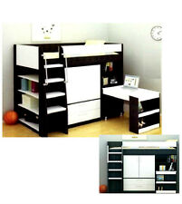 VECTRA CABIN BUNK BED LOFT DESK BOOKCASE CUPBOARD DRAWERS IN WHITE