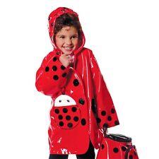 Kidorable Ladybug Rain Coat Red Raincoat Waterproof Ladybird Mac 92-98 cm 3 Yrs