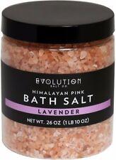 Himalayan Pink Bath Salt, EVOLUTION SALT, 26 oz Lavender
