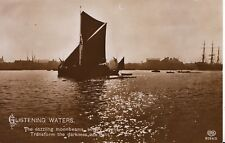 Unknown Location Postcard - Listening Waters - Showing Boats - Ref ZZ4479