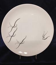 "ARZBERG GERMANY SILVER FLIGHT DINNER PLATE 10 1/8"" GREY & SILVER BIRDS ON WHITE"