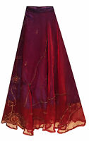 LONG blue embroidered FULLY LINED princess skirt FITS 10 12 14 16 belly dancing