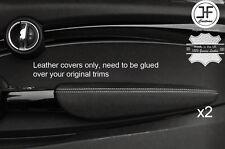 Punto Blanco Cuero Apoyabrazos puerta frontal 2X Cubiertas para BMW Mini Cooper 14-17 F56