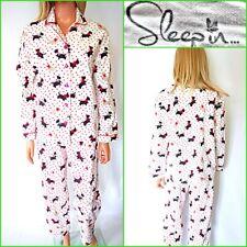 Nuevo dormir en Reino Unido 10 para mujer Pijama Franela Algodón #4785 impresión de perros