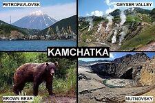 SOUVENIR FRIDGE MAGNET of KAMCHATKA RUSSIA