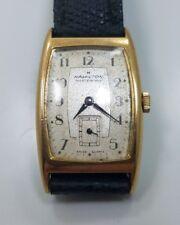 Vintage Mens Rectangular Hamilton Quartz Masterpiece Wrist Watch