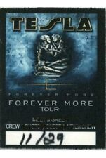 Tesla * Rare Forever More Official 2008 Tour * Satin Cloth Backstage Crew Pass