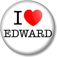 I Love / Heart EDWARD 25mm Pin Button Badge Cullen Twilight Saga Vampire Movies