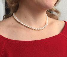 Perlenkette AAA Süßwasserperlen Halskette|925 Sterlingsilber|Super Geschenk