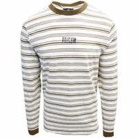 Volcom Men's White Flash Flexure Crew L/S T-Shirts (S02)