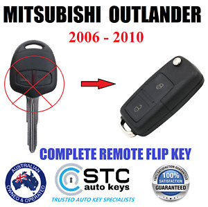 MITSUBISHI OUTLANDER CAR COMPLETE REMOTE  FLIP KEY 2006 2007 2008 2009 2010