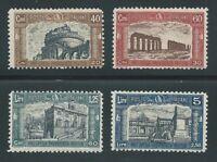 """1926 Regno d'Italia """"PRO OPERE PREVIDENZA MILIZIA I"""" 4V MNH NUOVI LUSSO**"""
