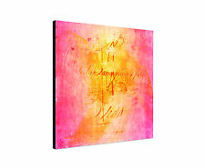 """Paul Sinus Picture 23.62""""x23.62"""" - Enigma Series On Canvas Timeless Pink Orange"""