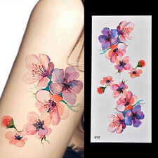 Women Waterproof Temporary Fake Tattoo Sticker Watercolor Orchid Arms DIY Decals