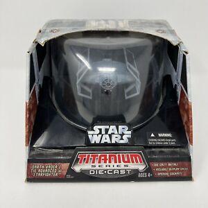 Star Wars Titanium Series Die.cast Darth Vader's Tie Advanced X1 Starfighter New