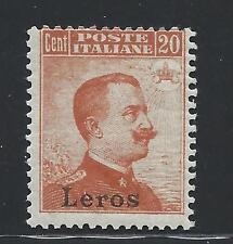 FRANCOBOLLI 1917 EGEO LERO 20 CENTESIMI LINGUELLATO MLH D/5841