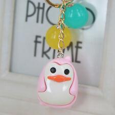 Acrylic Pink Penguin Beads Keyring Jewelry Keychain Bag Birthday Christmas Gift