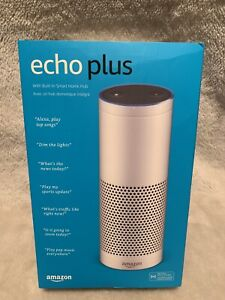 Amazon Echo Plus with built-in Hub - 1st Generation – White - Like New