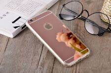 Funda para Samsung Galaxy S6 Edge gel bumper silicona espejo gris plata