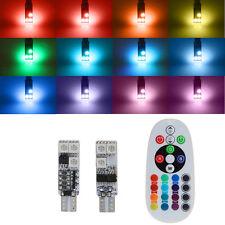 2x T10 6smd 5050 RGB LED coche Mazo Luz Lateral lectura bombilla+