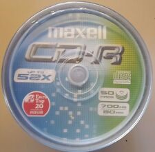 CD VERGINI CAMPANA CAKEBOX 50 PEZZI MAXELL CD-R80 700MB 80 MIN 52X SPEED