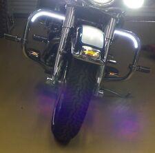 Motorcycle LED Daytime Running Light Kit - White
