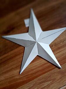 Nordic style rustic white metal barn christmas star 20cm
