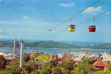 BR30880 Cable cars from Mt faber to Sentosa Singapore