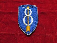 8th  Infantry Division patch with original store tag REALLY Premium Quality