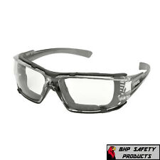 Elvex Go Specs IV Safety/Glasses/Goggles A/F Lens Dark Gray Temples Z87.1