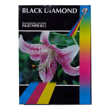 Black Diamond Brillant Enrobé de Résine 17.8x12.7cm Professionnelle Grade