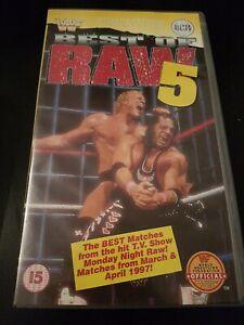 WWF BEST OF RAW 5 - SILVER VISION - SEALED VHS - NEW - WCW/ECW/WWE